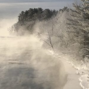 Wintertime on Old Canada Road National Scenic Byway